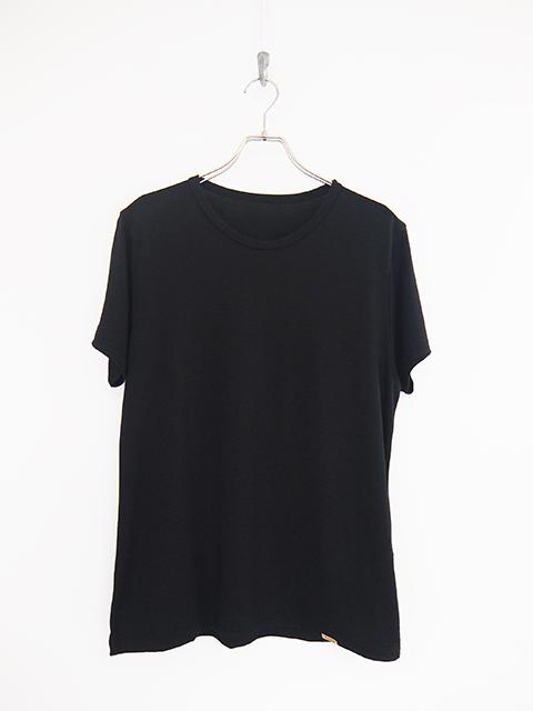 画像1: COLINA-コリーナ Washable Wool T-SHIRTS BLACK (1)