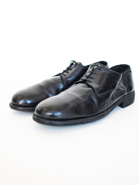 画像1: GUIDI-グイディ CLASSIC  DERBY SHOES BLACK (1)