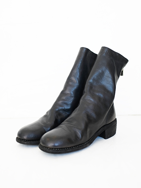 画像1: 【GUIDI】 BACK ZIP MID BOOTS  SOFT HOUSE BLACK T   (1)