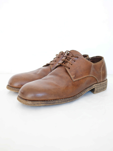 画像1: GUIDI-グイディ CLASSIC DERBY SHOES BROWN (1)