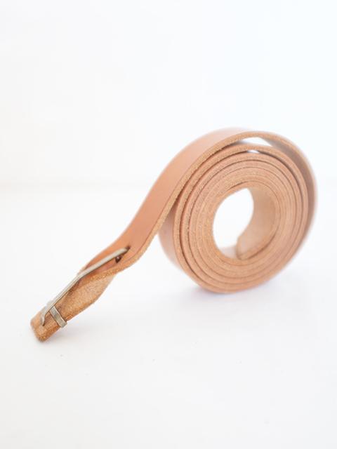 画像1: m.a+-エムエークロス Leather Buckle Slim Belt NATURAL (1)