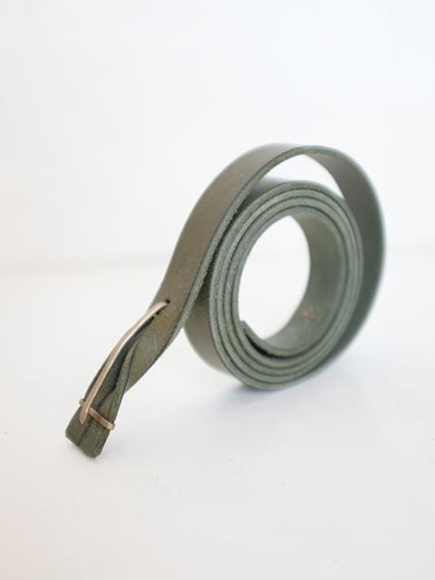 画像1: m.a+-エムエークロス Leather Buckle Slim Belt IVY GREEN (1)