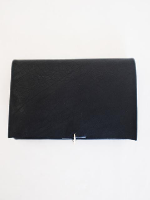 画像1: m.a+-エムエークロス  Medium Wallet With Hook BLACK (1)