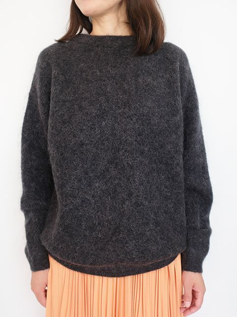 画像1: 【Acne Studios】DRAMATIC MOH WARM CHARCOAL (1)