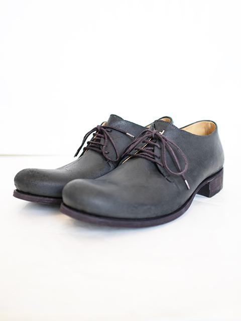 画像1: m.a+-エムエークロス 1 Leather Piece Derby Shoes BLACK REVERSE   (1)