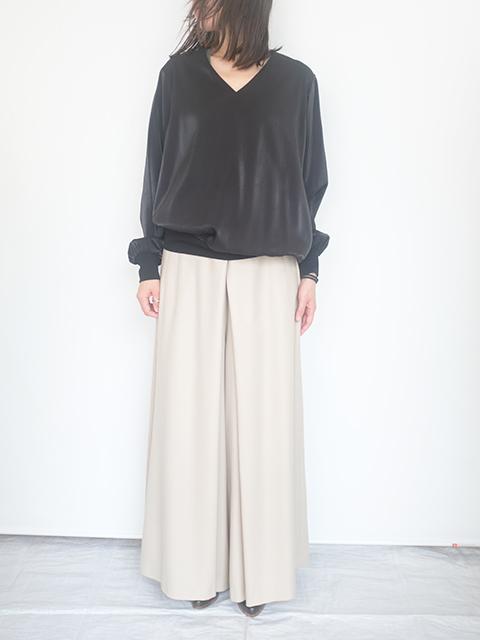 画像1: 【Tomoumi Ono】WIDE PANTS BEIGE (1)