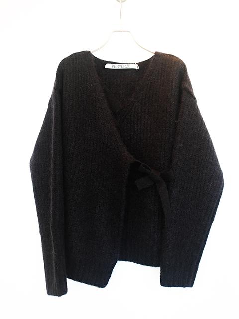 画像1: 【PERVERZE】Strap Mohair gown Black (1)