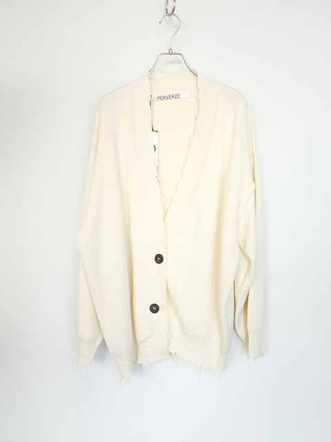 画像1: 【PERVERZE】Crash Midi Cardigan White (1)