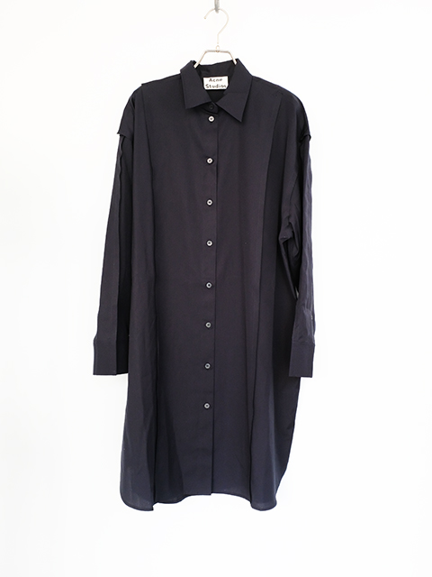 画像1: 【Acne Studios】DALEASH WASH POPLIN NAVY (1)