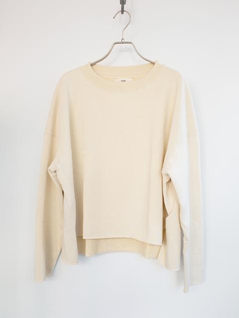 画像1: 【unfil-アンフィル 】 sweatshirt ECRU (1)