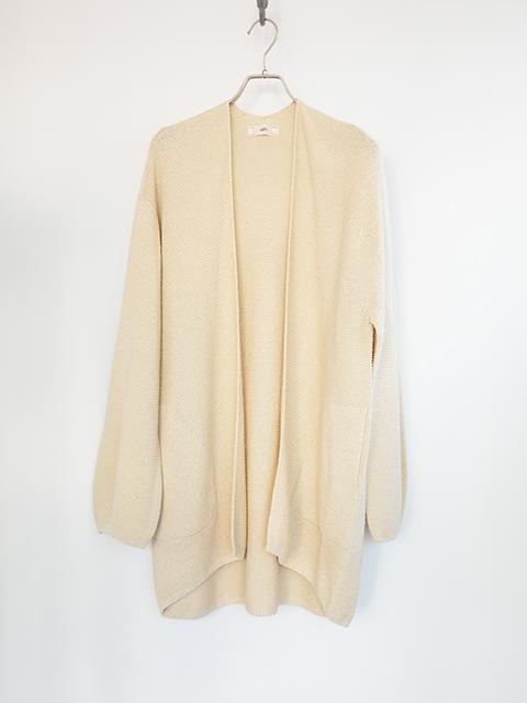 画像1: 【unfil-アンフィル 】 raw silk knit cardigan ECRU (1)