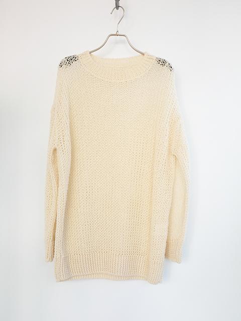 画像1: 【unfil-アンフィル 】 ribbed knit sweater ECRU (1)