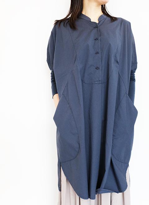 画像1: 【KristenseN DU NORD-クリステンセン ドゥ ノルド 】 TUNIC SHIRTS BLUE NOTTE (1)
