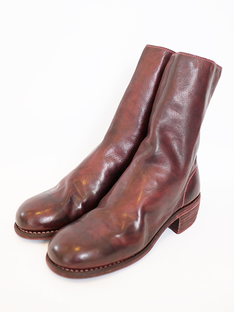 画像1: 【GUIDI】 788 BACK ZIP MID BOOTS BORDEUX (1)