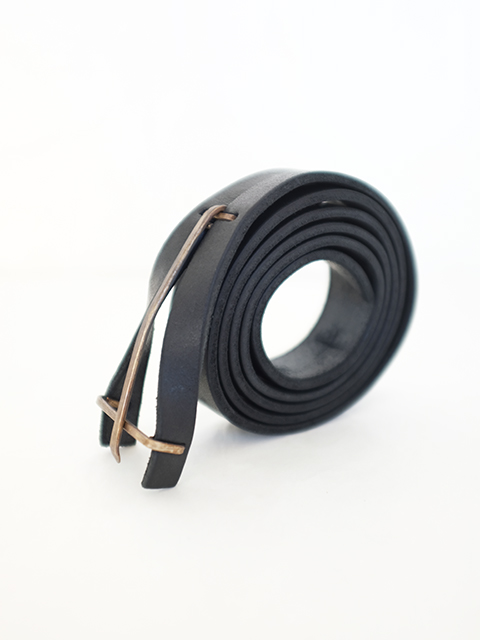 画像1: m.a+-エムエークロス Y buckle Medium Belt BLACK (1)