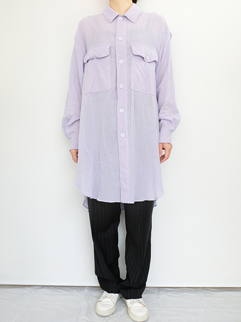 画像1: 【unfil-アンフィル 】 oversized shirt LAVENDER (1)