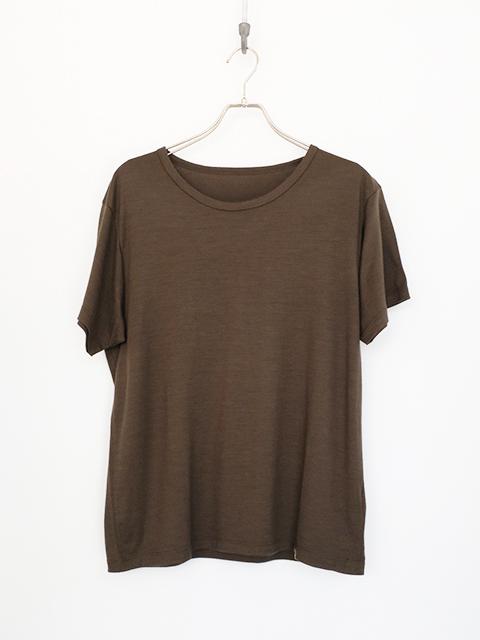 画像1: COLINA-コリーナ Washable Wool T-SHIRTS D,OLIVE (1)