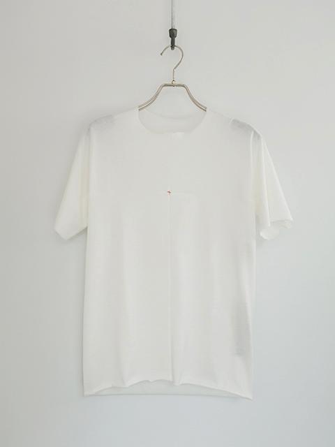 画像1: m.a+-エムエークロス one piece short sleeve T-shitrs WHITE (1)