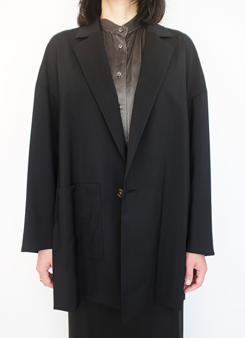 画像1: 【ENFOLD-エンフォルド】RELAX WIDE JACKET BLACK (1)