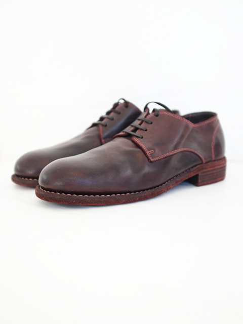 画像1: GUIDI-グイディ 992 CLASSIC  DERBY SHOES BORDEUX (1)