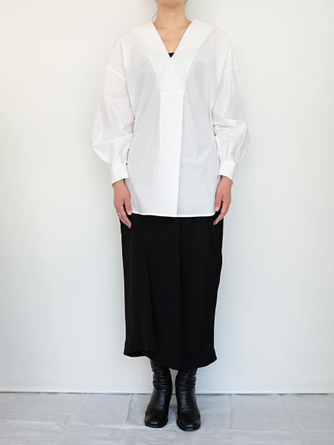 画像1: 【ENFOLD-エンフォルド】SHIRT WHITE (1)