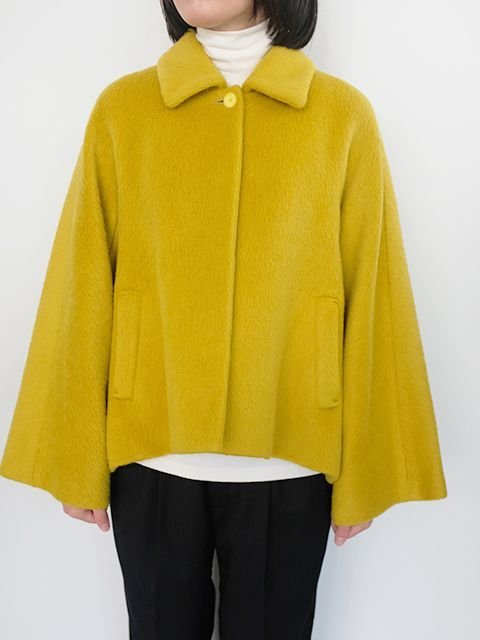 画像1: 【Tomoumi Ono】A  LINE SHORT COAT YELLOW (1)