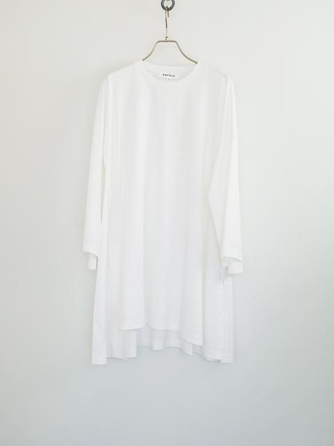 画像1: 【ENFOLD-エンフォルド】FLARE SLEEVE TEE WHITE (1)